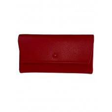 На фото 1 - Женское портмоне из искусственной кожи, цвет красный