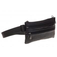 На фото 1 - Мужская поясная сумка, черная