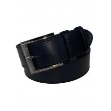 На фото 1 - Мужской кожаный ремень, от 110 до 120 см, цвет чёрный