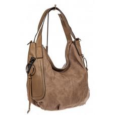 На фото 1 - Сумка oversize, серо-коричневая