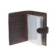 На фото 2 - Обложка для документов и карточек из натуральной кожи
