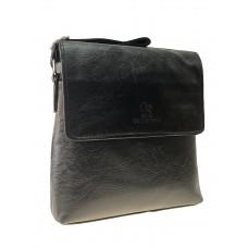 На фото 1 - Сумка планшет через плечо для мужчин, чёрный цвет