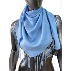 На фото 1 - Лёгкий платок-палантин из кашемира, цвет голубой