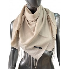 На фото 1 - Лёгкий платок-палантин из кашемира, цвет бежевый