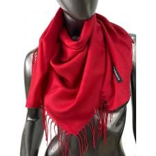 На фото 1 - Лёгкий платок-палантин из кашемира, цвет рубиновый