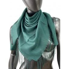 На фото 1 - Лёгкий платок-палантин из кашемира, цвет зелёный