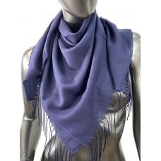 На фото 1 - Лёгкий платок-палантин из кашемира, цвет индиго