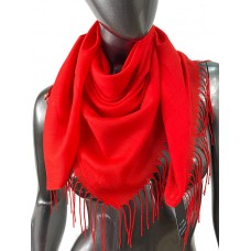 На фото 1 - Лёгкий платок-палантин из кашемира, цвет алый