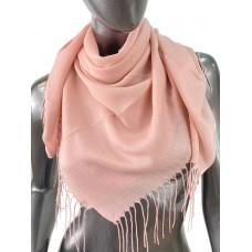 На фото 1 - Лёгкий платок-палантин из кашемира, цвет розовый