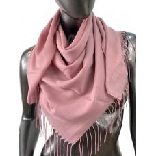 На фото 1 - Лёгкий платок-палантин из кашемира, цвет розового дерева