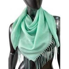 На фото 1 - Лёгкий платок-палантин из кашемира, цвет мятный