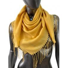 На фото 1 - Лёгкий платок-палантин из кашемира, цвет медовый
