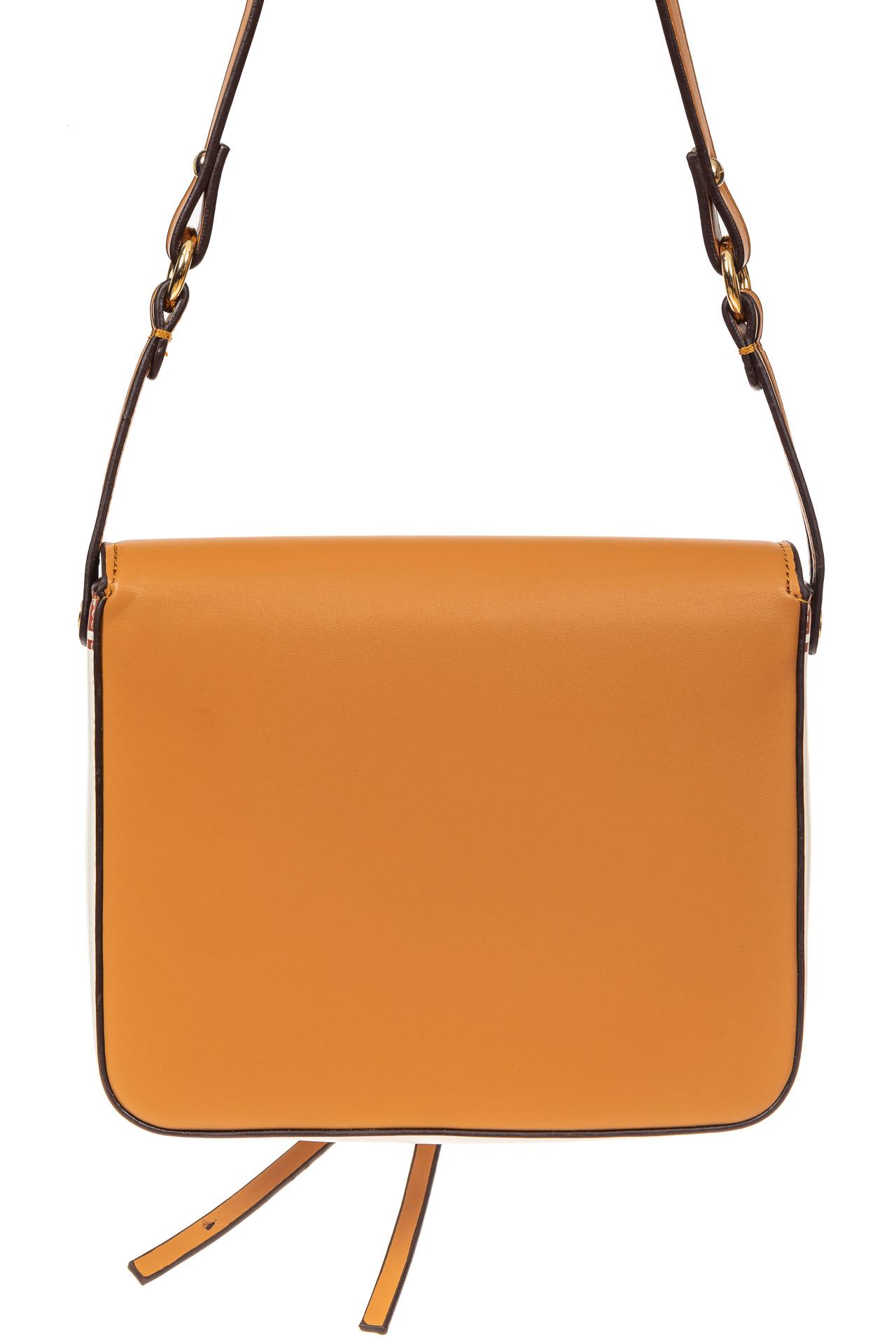 На фото 3 - Лёгкая летняя сумка из искусственной кожи, цвет белый с принтом