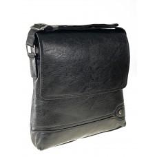 На фото 1 - Мужская сумка-планшет из экокожи, чёрная размер L