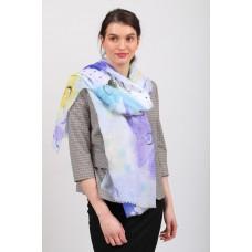 На фото 1 - Прозрачный пляжный палантин-шарф от производителя, фиолетовый