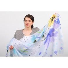 На фото 2 - Прозрачный пляжный палантин-шарф от производителя, фиолетовый