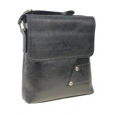 На фото 1 - Сумка-планшет мужская из чёрной экокожи