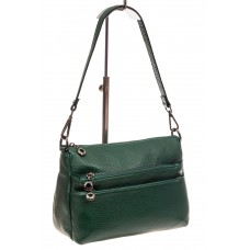 На фото 1 - Кожаная женская сумка с фактурой под рептил...