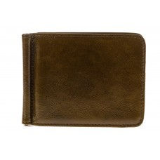 На фото 1 - Зажим для денег из натуральной кожи, цвет з...