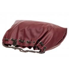 На фото 4 - Мягкая женская сумка из искусственной кожи, цвет бордо