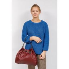 На фото 5 - Мягкая женская сумка из искусственной кожи, цвет бордо