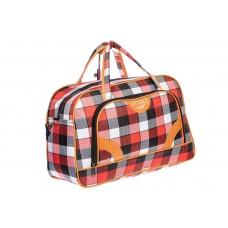На фото 1 - Дорожная сумка, цвет красная клетка
