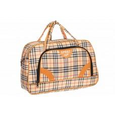 На фото 1 - Дорожная сумка, цвет рыжий