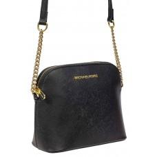 На фото 1 - Женская сумка искусственной кожи, цвет черный
