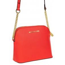 На фото 1 - Женская сумка искусственной кожи, цвет красный