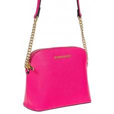 На фото 1 - Женская сумка искусственной кожи, цвет фуксия