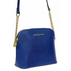 На фото 1 - Женская сумка из искусственной кожи, цвет синий