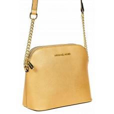 На фото 1 - Женская сумка искусственной кожи, цвет золотой