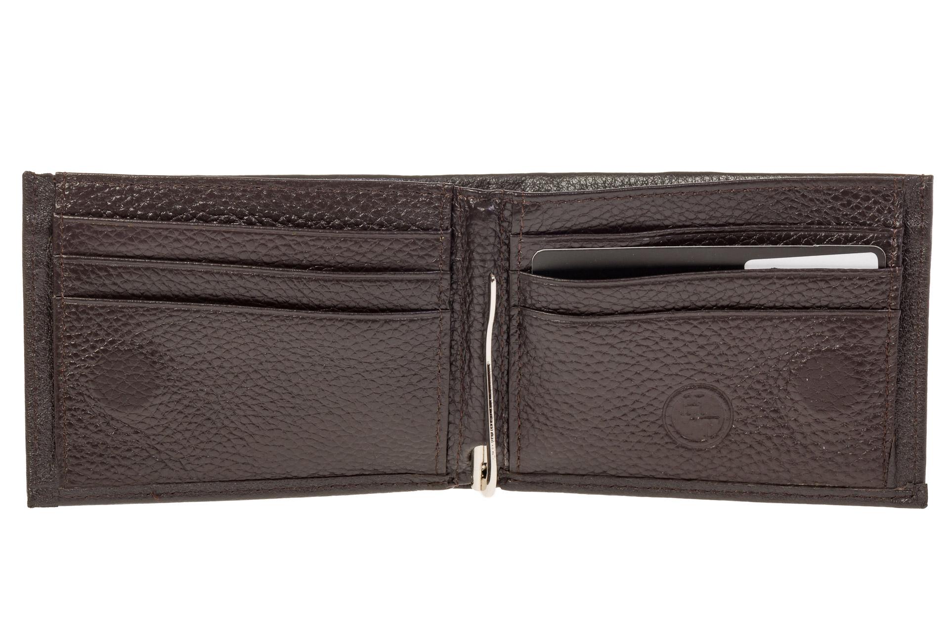 На фото 2 - Мужской кошелек из натуральной кожи с зажимом для денег