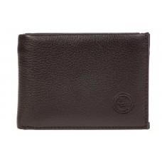 На фото 1 - Мужской кошелек из натуральной кожи с зажимом для денег