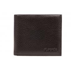 На фото 1 - Компактное мужское портмоне из натуральной кожи, цвет коричневый