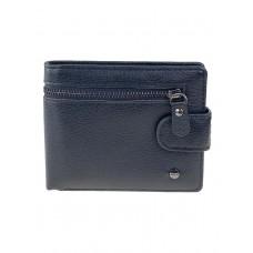 На фото 1 - Мужской кошелёк из мягкой натуральной  кожи, цвет чёрный