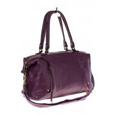 На фото женская сумка виноградного оттенка, тип satchel bag, купить оптом в магазине Грета