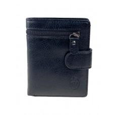 На фото 1 - Чёрный мужской кошелёк из натуральной кожи