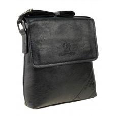 На фото 1 - Мужская сумка-планшет из чёрной экокожи