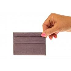 На фото 3 - Картхолдер на 6 карт из натуральной кожи, цвет пудра