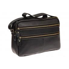 На фото 1 - Мужская сумка с золотистой фурнитурой