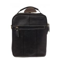 На фото 3 - Мужская сумка с контрастной прострочкой, натуральная кожа