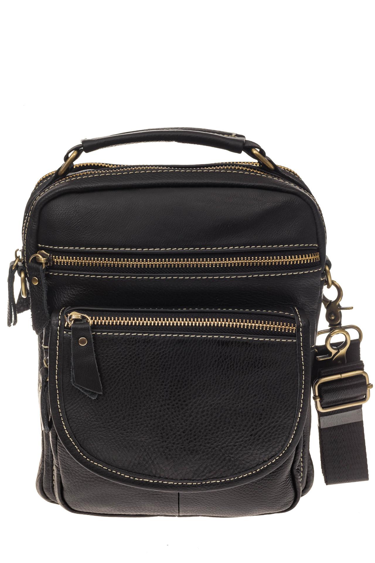 На фото 2 - Мужская сумка из натуральной кожи, с клапаном