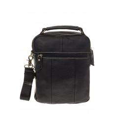 На фото 3 - Мужская сумка из натуральной кожи, с клапаном