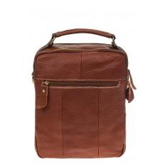 На фото 3 - Рыжая мужская сумка из натуральной зернистой кожи