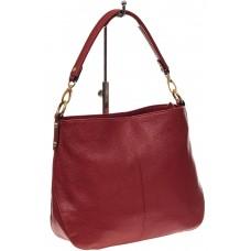 На фото 1 - Женская сумка из натуральной зернистой кожи, цвет красный