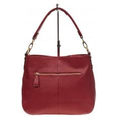 На фото 3 - Женская сумка из натуральной зернистой кожи, цвет красный