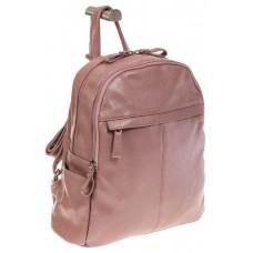 На фото 1 - Розовый рюкзак из искусственной кожи с двумя отделениями