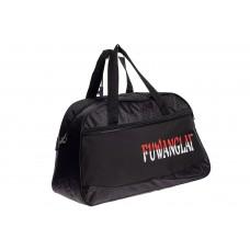 На фото 1 - Дорожная сумка из текстиля, цвет черный