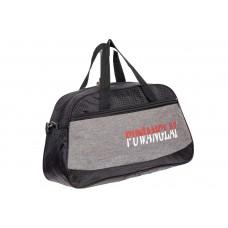 На фото 1 - Дорожная сумка из текстиля, цвет серый